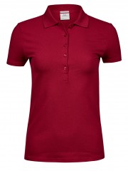 Ladies Luxury Stretch Deep Red Arbetskläder Vården